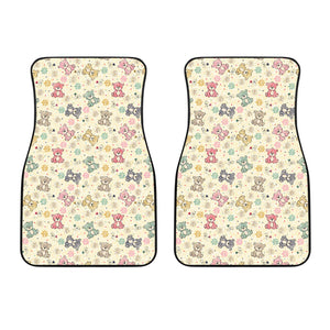 Teddy Bear Pattern Print Design 05 Front Car Mats