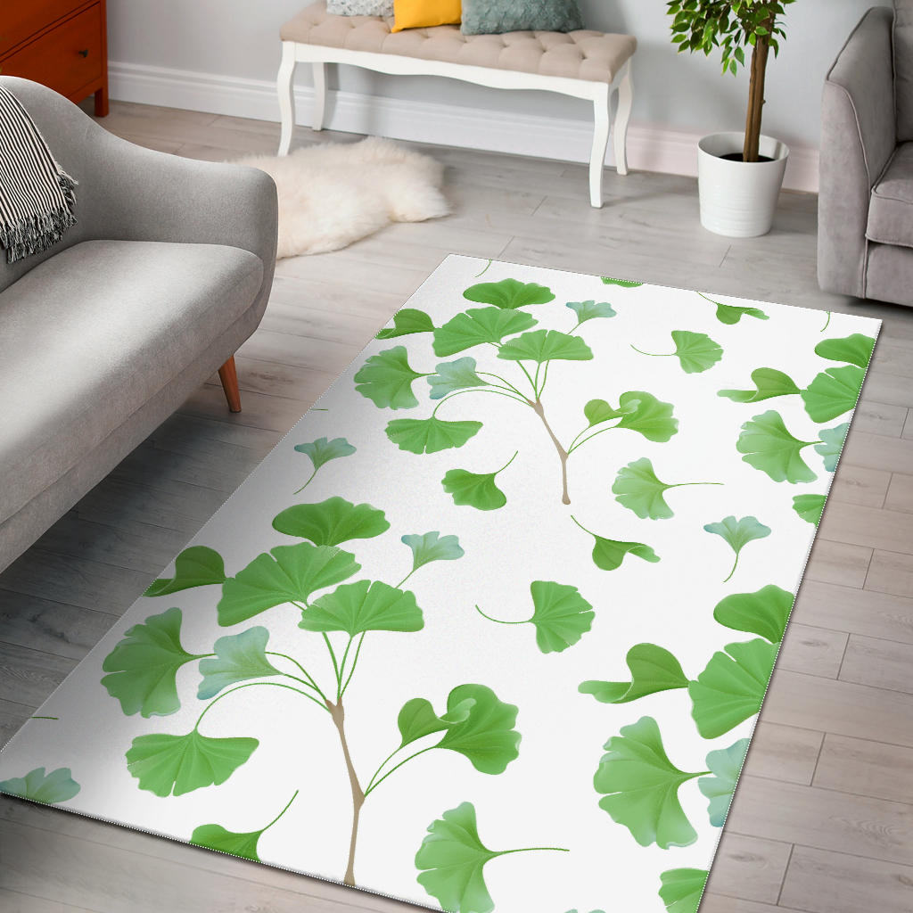 Ginkgo Leaves Pattern Area Rug