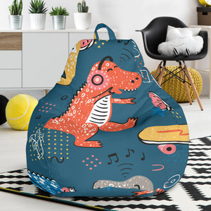 Dinosaur Music Skating Pattern Bean Bag Chair