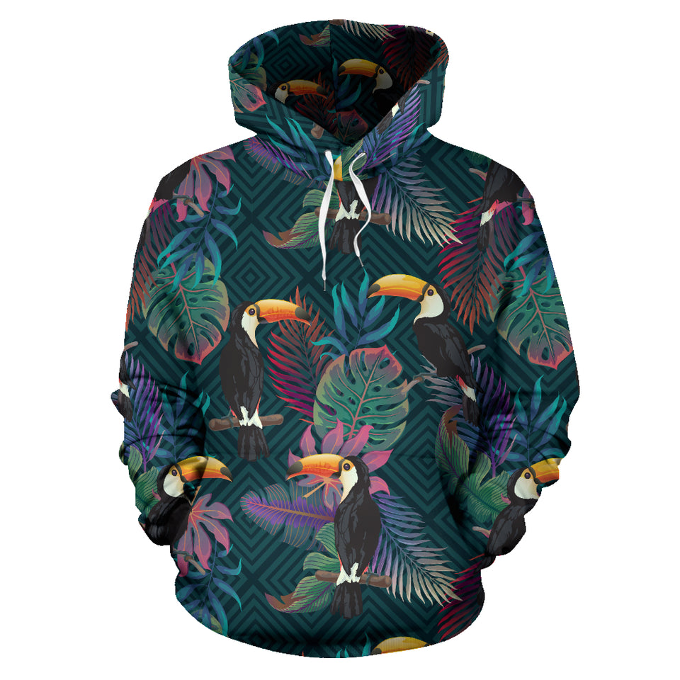Toucan Pattern Men Women Pullover Hoodie