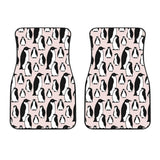 Penguin Pattern Background Front Car Mats