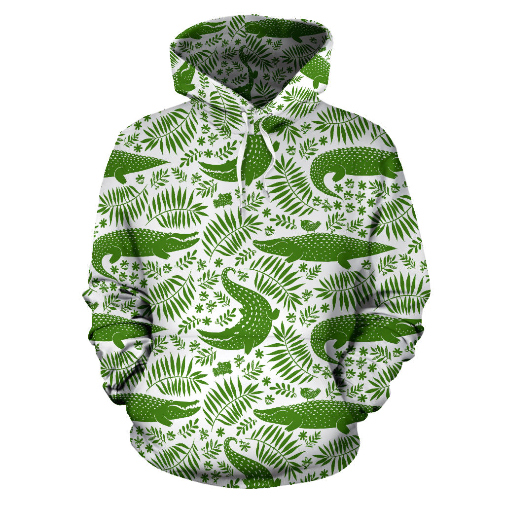 Crocodile Pattern Men Women Pullover Hoodie