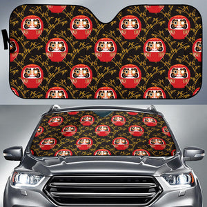 Daruma Bamboo Pattern Car Sun Shade
