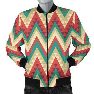Zigzag Chevron Pattern Men Bomber Jacket