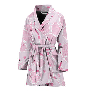 Tennis Pattern Print Design 02 Women Bathrobe