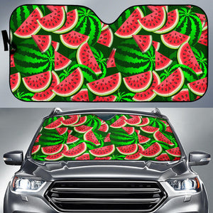 Watermelon Pattern Theme Car Sun Shade