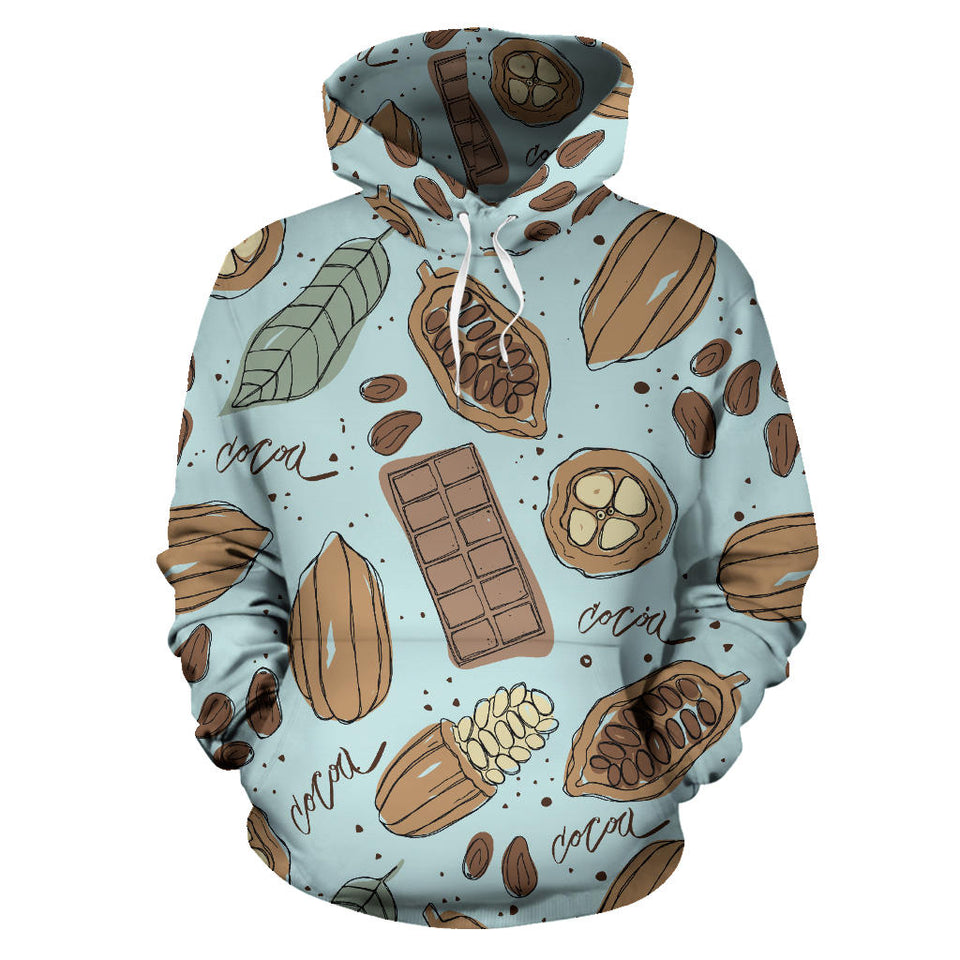 Hand Drawn Cocoa Pattern Men Women Pullover Hoodie