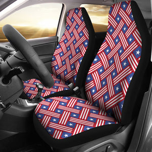 USA Star Stripe Pattern Universal Fit Car Seat Covers