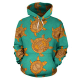 Sea Turtle Tribal Aboriginal Pattern Men Women Pullover Hoodie
