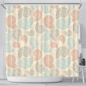 Shell Pattern Shower Curtain Fulfilled In US