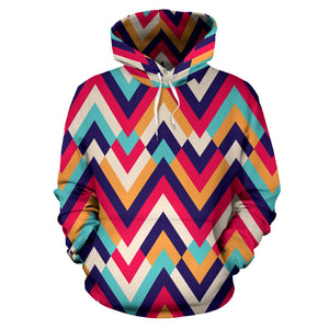 Zigzag Chevron Pattern Background Men Women Pullover Hoodie