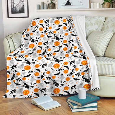 Halloween Pattern Premium Blanket