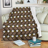 Eagle Pattern Print Design 02 Premium Blanket