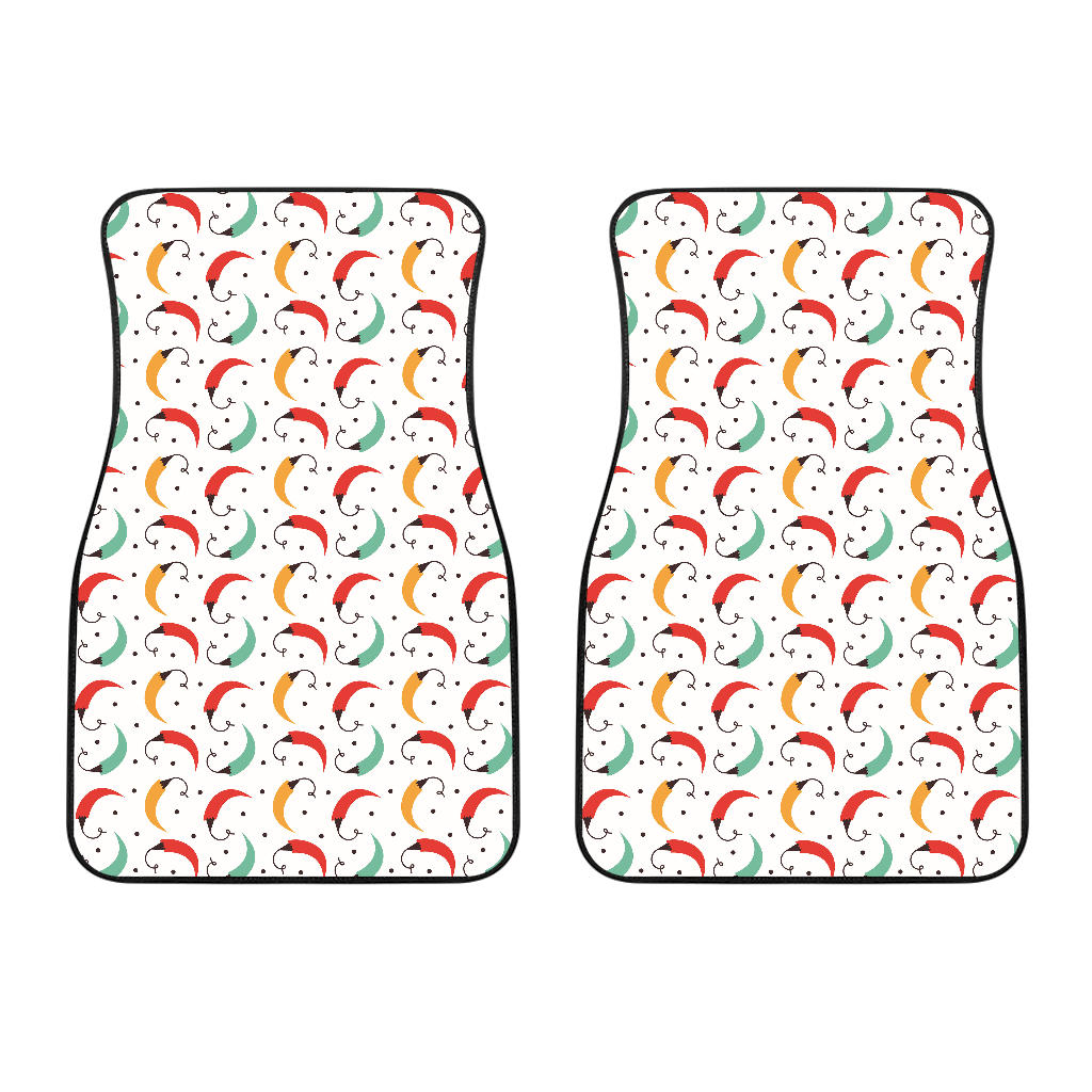 Red Green Yellow Chili Pattern Front Car Mats