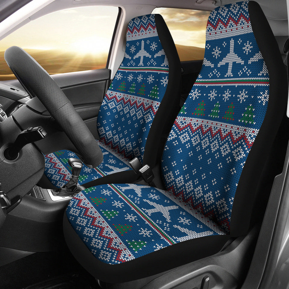 Airplane Sweater printed Pattern Universal Fit Car Seat Covers