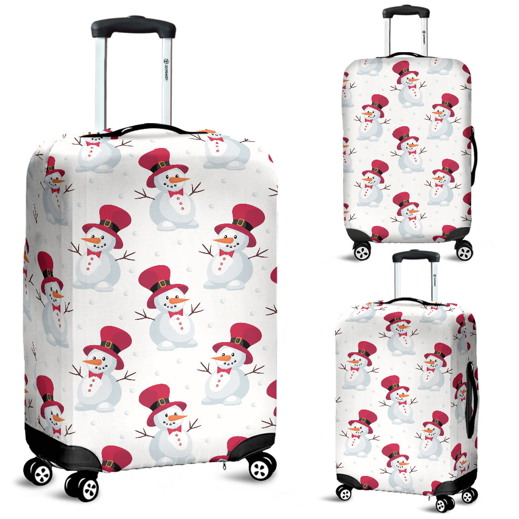 Cute Snowman Pattern Luggage Covers