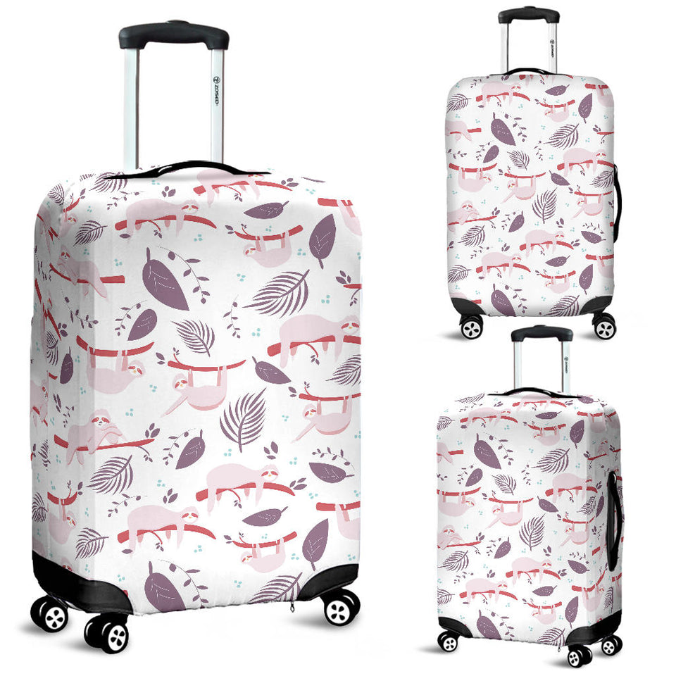 Sloth Leaves Pattern Luggage Covers