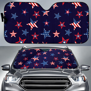 USA Star Pattern Theme Car Sun Shade