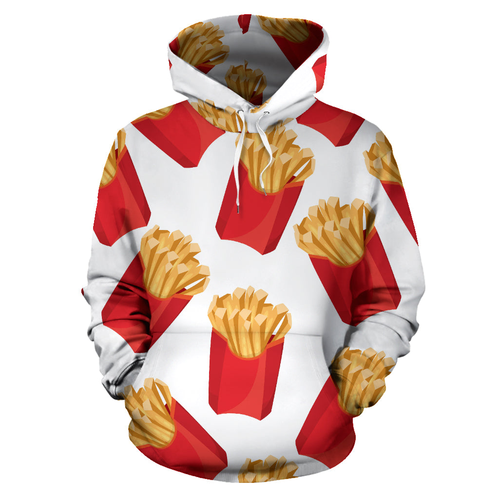 French Fries Theme Pattern Men Women Pullover Hoodie