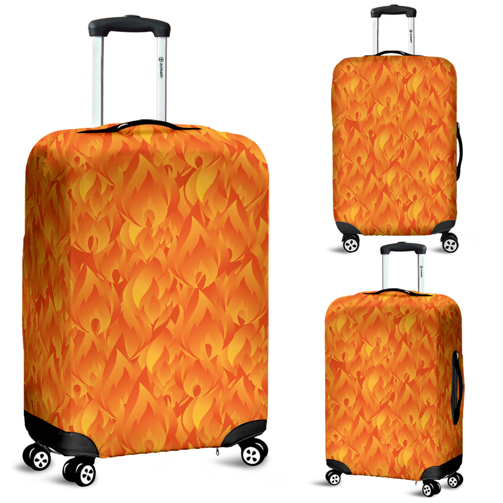 Red Flame Fire Pattern Luggage Covers