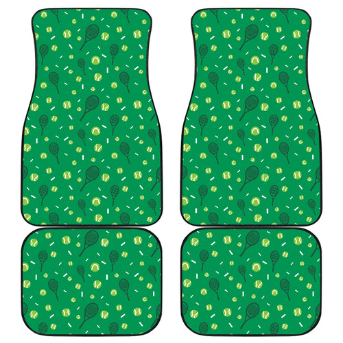 Tennis Pattern Print Design 03 Front and Back Car Mats