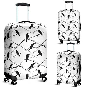 Crow Pattern Background Luggage Covers