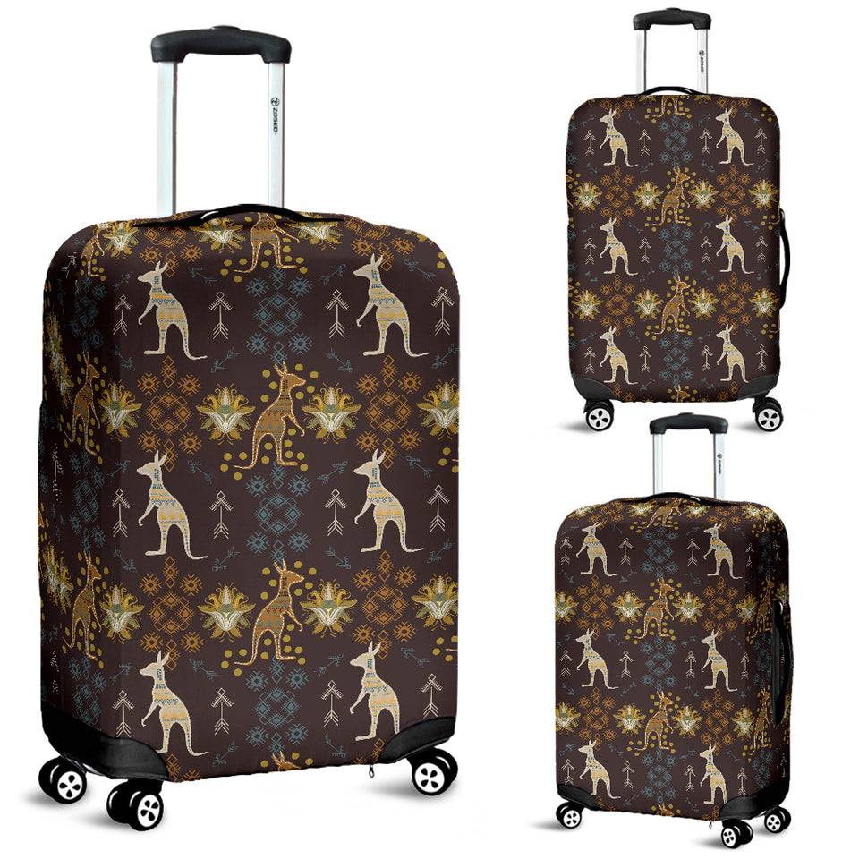 Kangaroo Aboriginal Theme Pattern  Luggage Covers