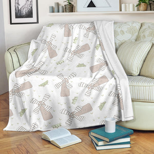 Windmill Pattern Background Premium Blanket
