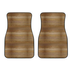 Wood Printed Pattern Print Design 02 Front Car Mats