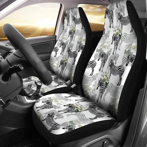 Zebra Pattern Universal Fit Car Seat Covers
