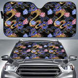 Snake Flower Pattern Car Sun Shade