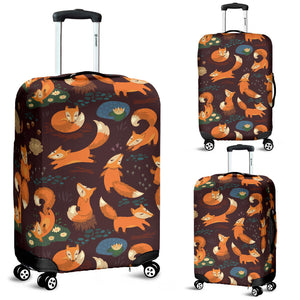 Fox Pattern Luggage Covers