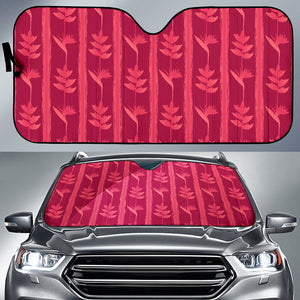 Heliconia Pink Pattern Car Sun Shade