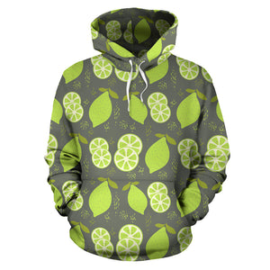 Lime Pattern Theme Pullover Hoodie