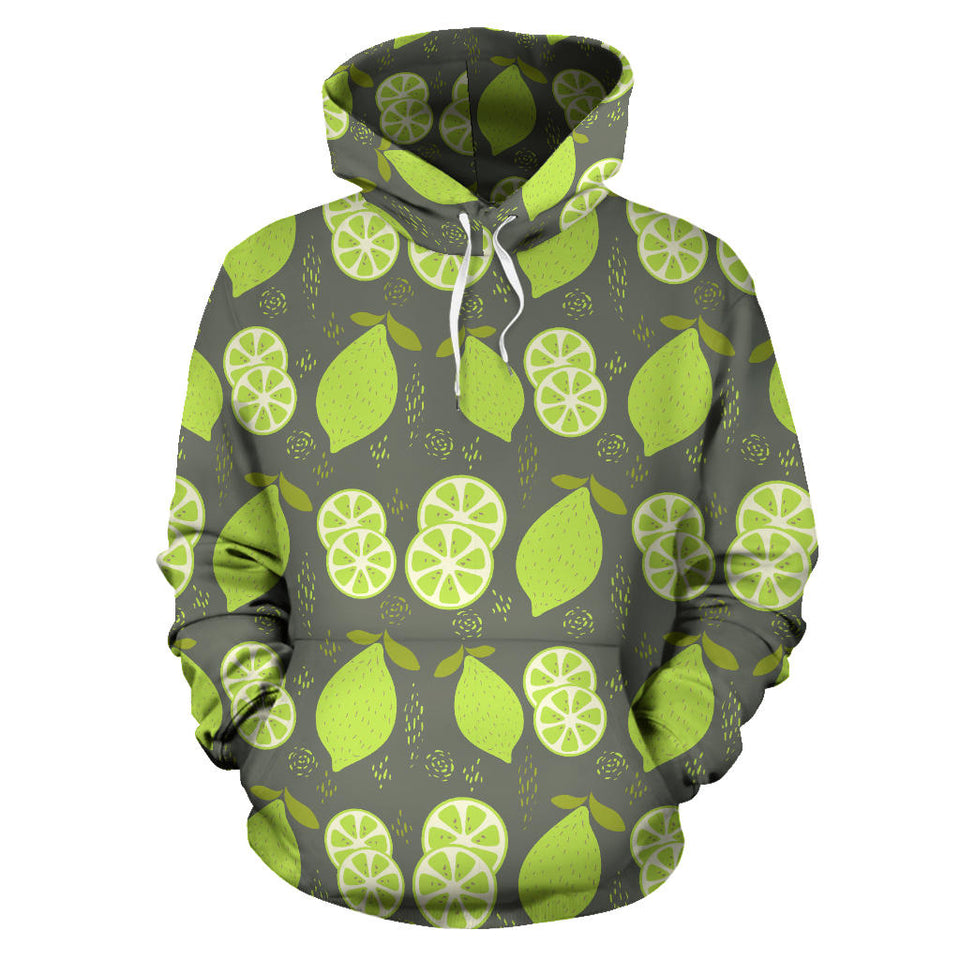Lime Pattern Theme Men Women Pullover Hoodie