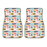 Guitar Pattern Background Front Car Mats