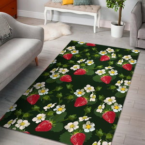 Strawberry Pattern Background Area Rug