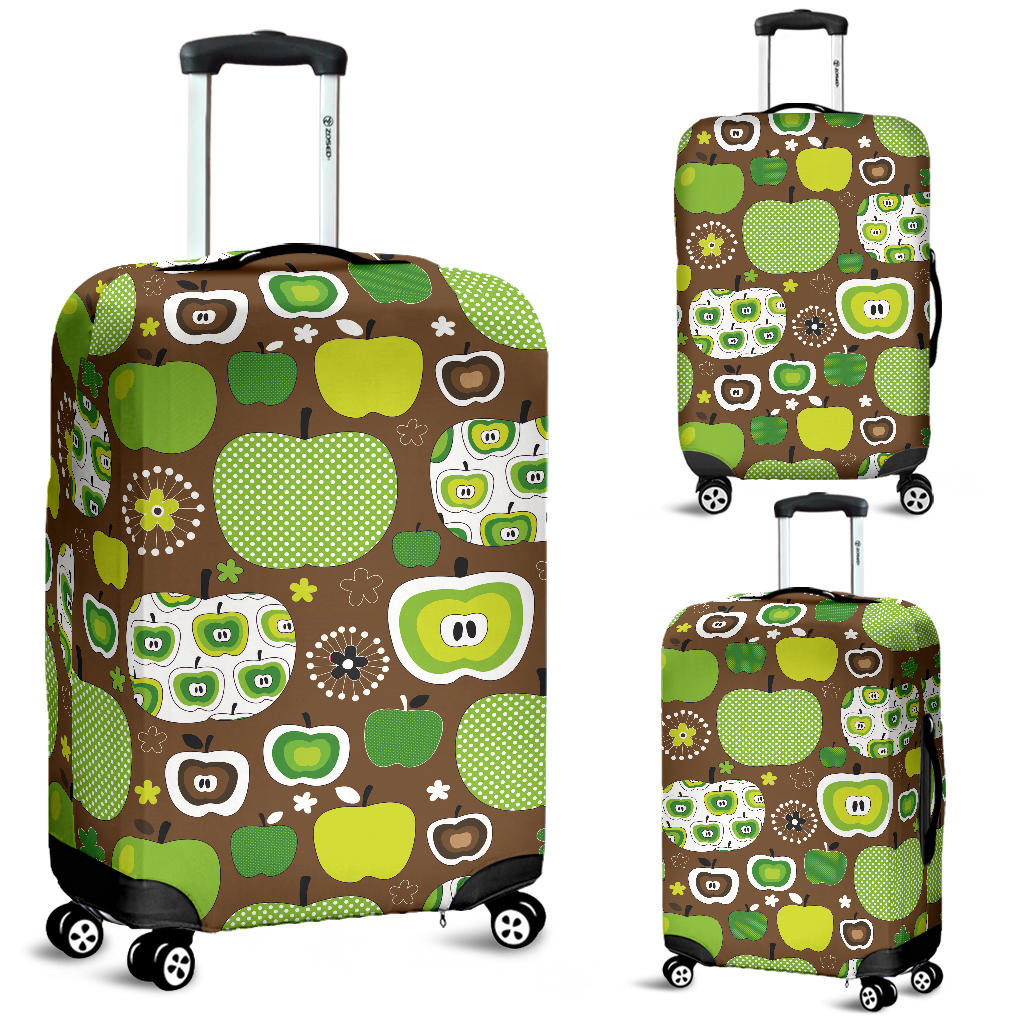 Green Apple Pattern Luggage Covers