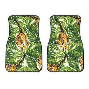 Bengal Tiger Pattern leaves Front Car Mats