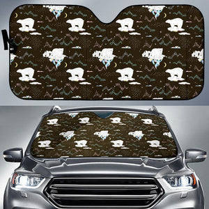 Polar Bear Pattern Background Car Sun Shade