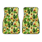 Avocado Leaves Pattern Front Car Mats