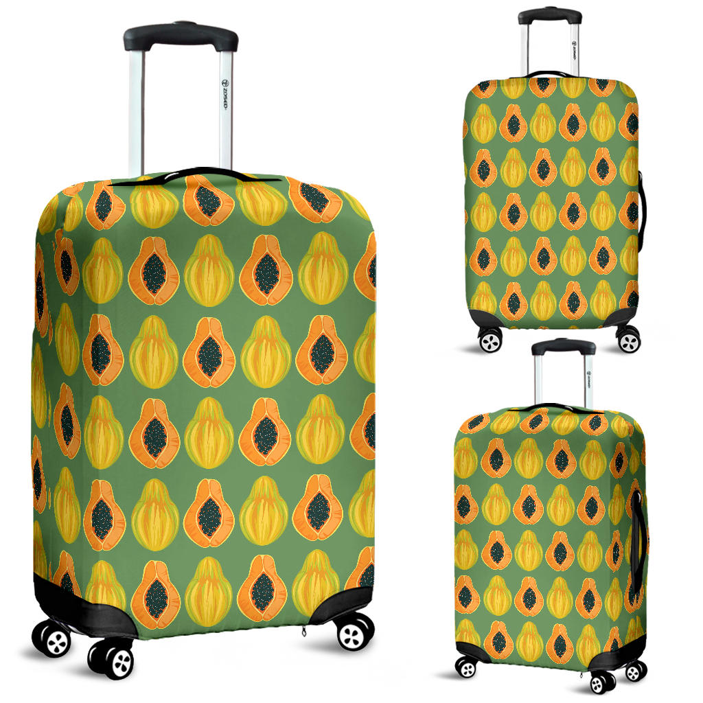 Papaya Pattern Background Luggage Covers
