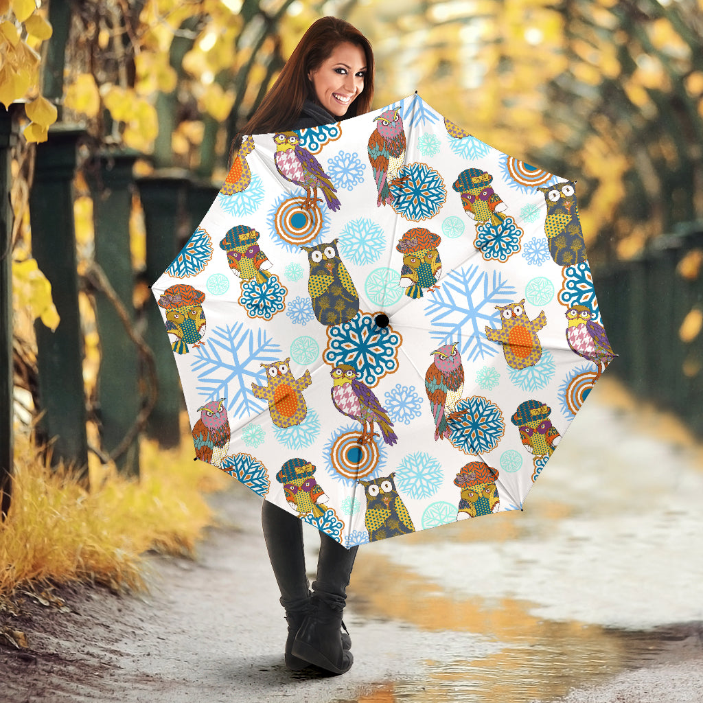 Owl Pattern Umbrella