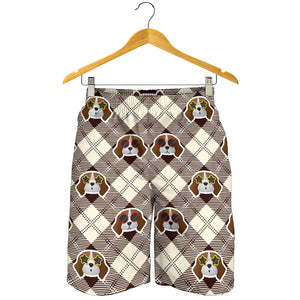 Beagle with Sunglass Pattern Men Shorts