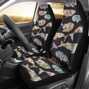 Whale Flower Tribal Pattern Universal Fit Car Seat Covers