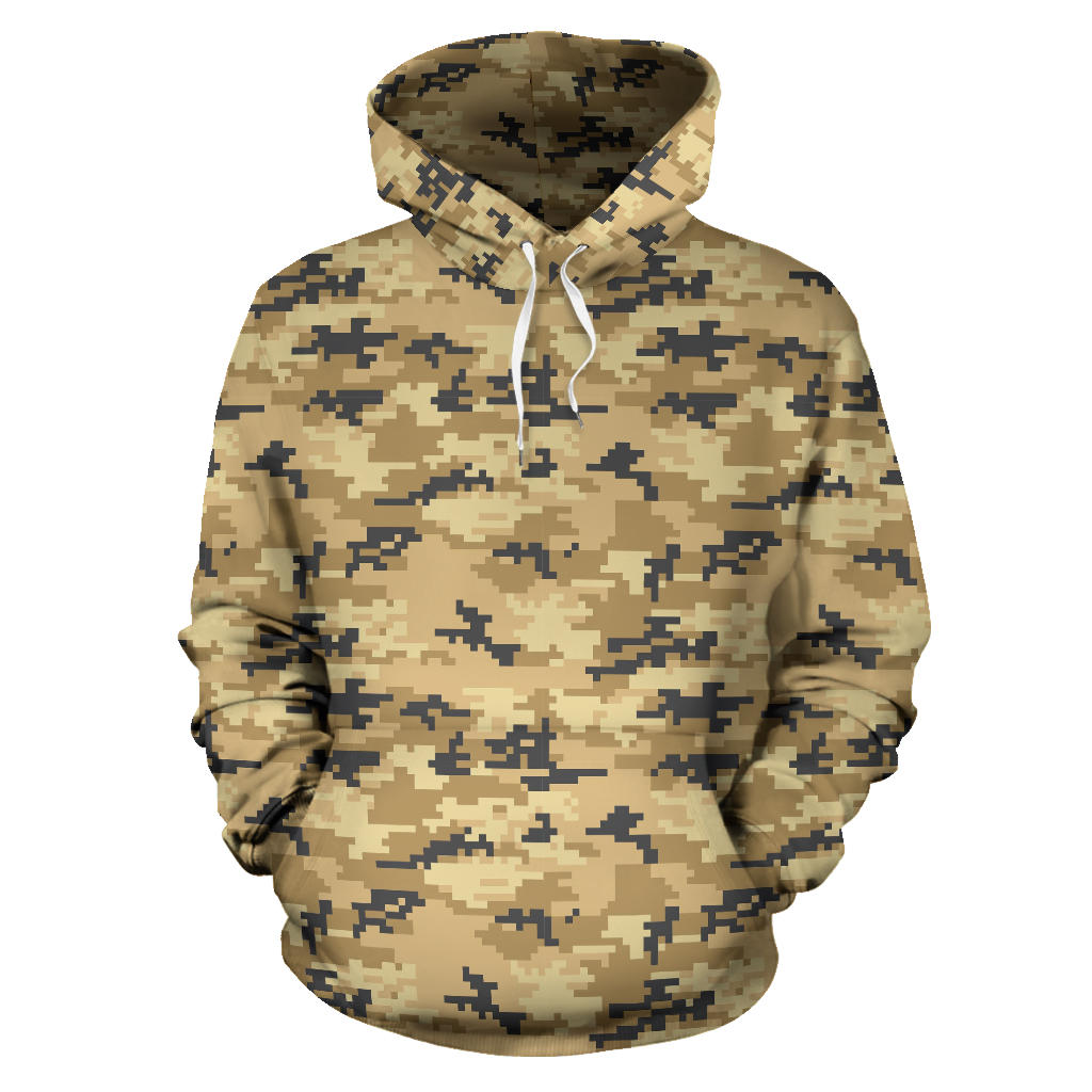 Sand Camo Camouflage Pattern Pullover Hoodie