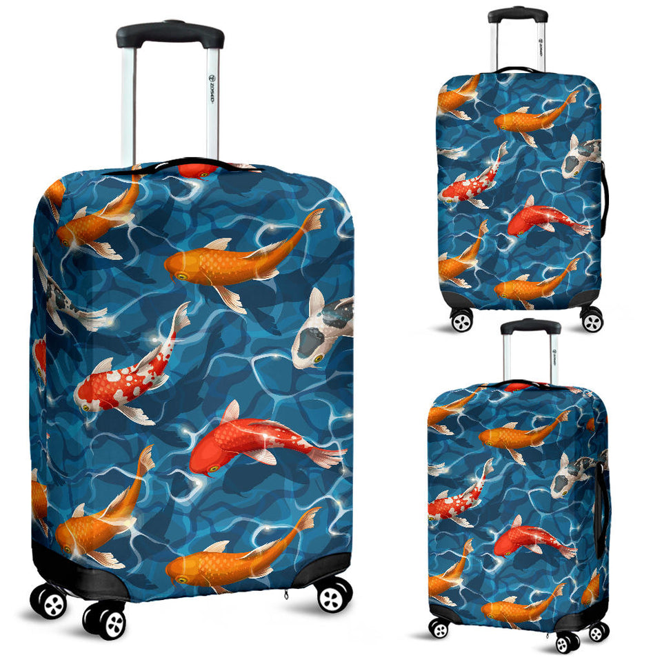Koi Fish Carp Fish in Water Pattern Luggage Covers