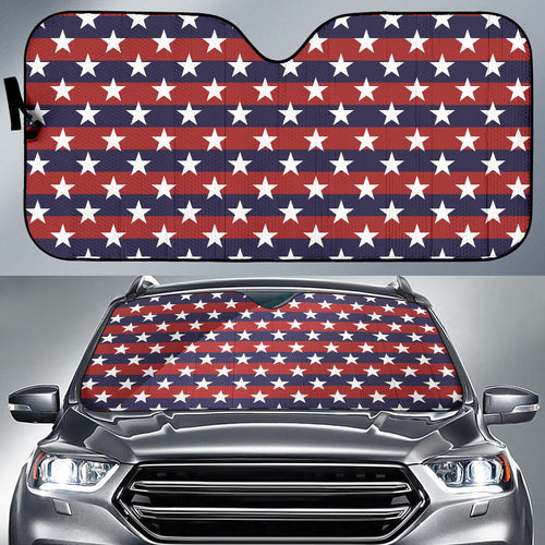 USA Star Pattern Background Car Sun Shade
