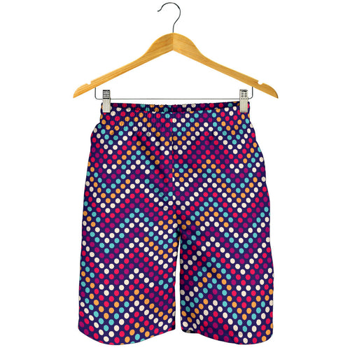 Zigzag Chevron Pokka Dot Aboriginal Pattern Men Shorts
