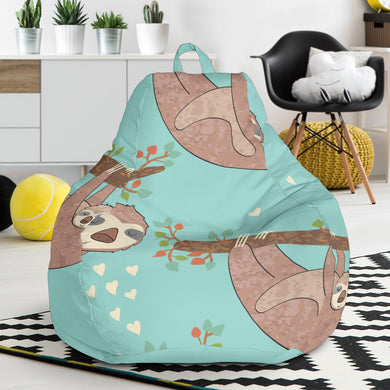 Sloth Mom and baby Pattern Bean Bag Chair